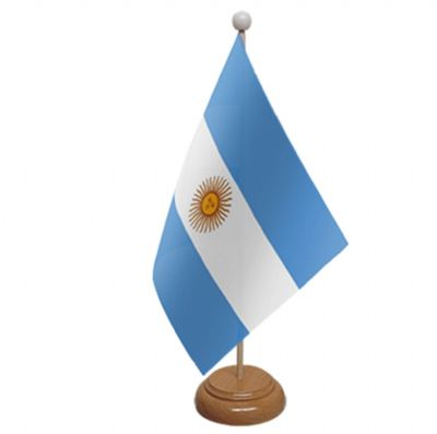 ARGENTINA - TABLE FLAG WITH WOODEN BASE